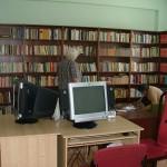 Bibliothek in dem Altenheim, Ungarn
