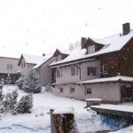 Altersheim in der Winterszeit, Tschechien