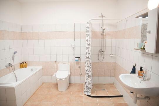 Barrierefreies Badezimmer in der ungarischen Residenz